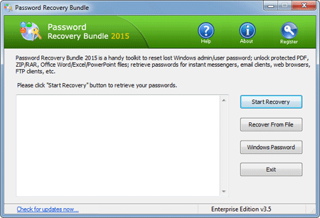 A handy toolkit to recover all your lost or forgotten passwords in an easy way.