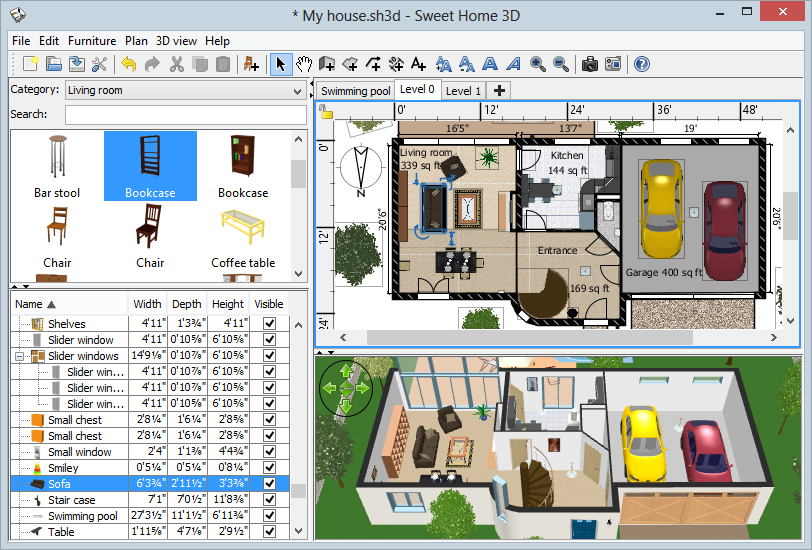 Extend the features of Sweet Home 3D with plug ins programmed in Java  or  by developing a derived version based on its Model View Controller  architecture. Sweet Home 3D 5 5   3D Modeling Software   FileEagle com