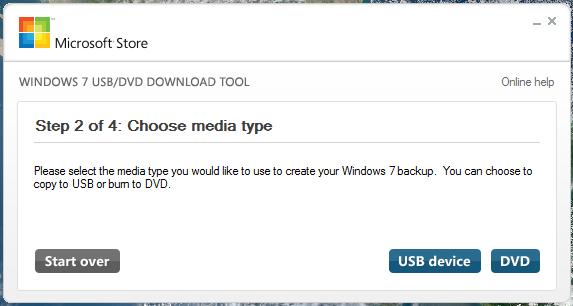 الفلاشة Windows USB/DVD Download Tool Screenshot_1_Windows