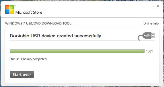 الفلاشة Windows USB/DVD Download Tool Screenshot_4_Windows