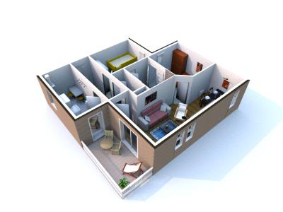 Sweet home 3d 5 5 3d modeling software for Cuisine 3d sweet home