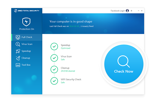 Quickly check the overall condition of your computers' health and safety with one click.