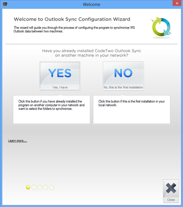 Outlook Sync Configuration Wizard
