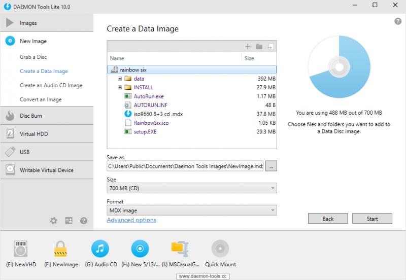 Create a Data Image