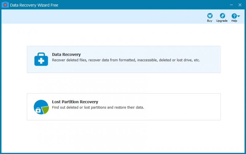 Launch Data Recovery Wizard Free