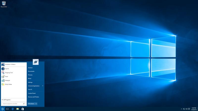 Windows 7 Style Start Menu