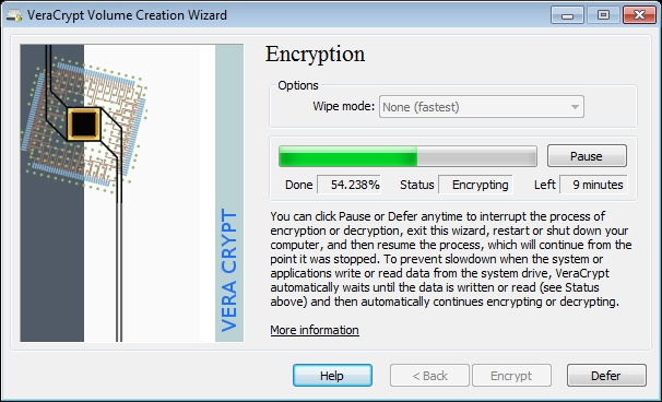 On the fly encrypting the system partition