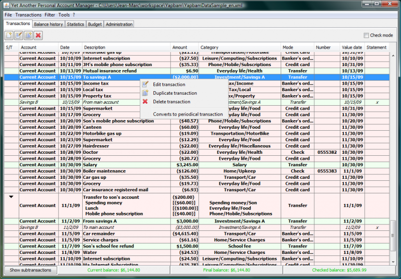 View, sort, filter your transactions with the transactions table view.