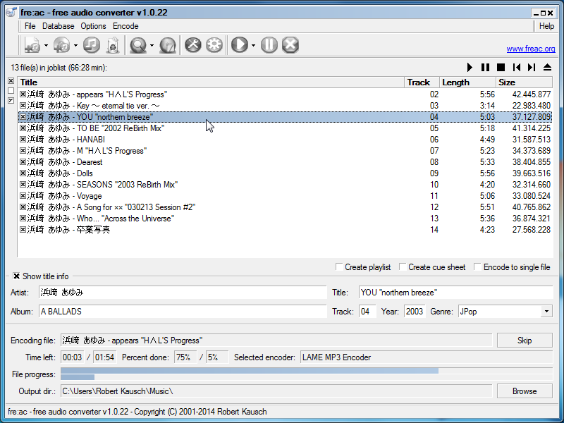 fre:ac - free audio converter 1.0.28   Rippers & Converting Software   FileEagle.com