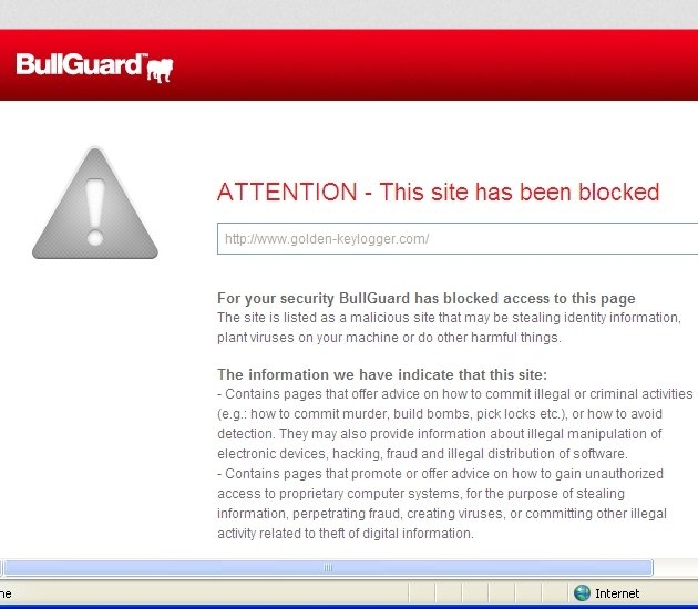 Malicious URL Blocked