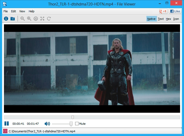 File Viewer Lite supports a large number of audio and video formats.