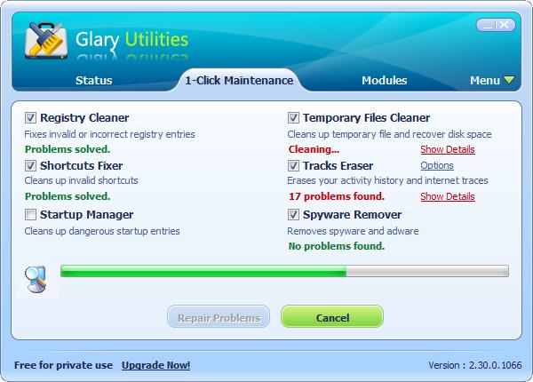 One Click Maintenance