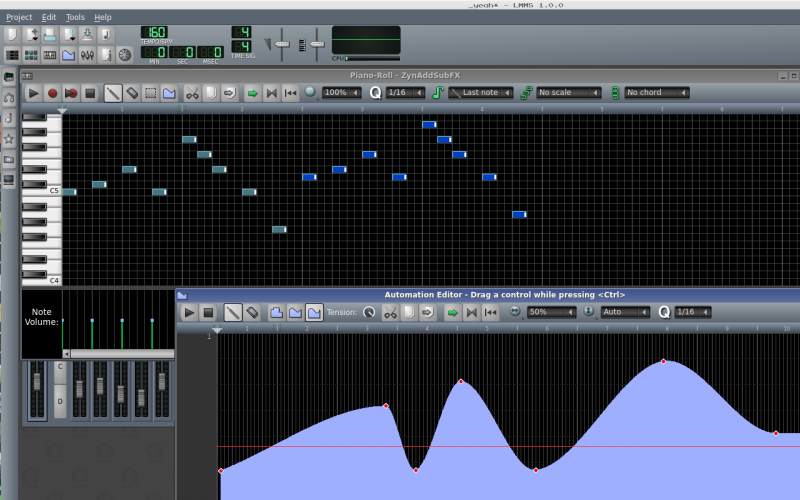 Piano roll & Automation editor