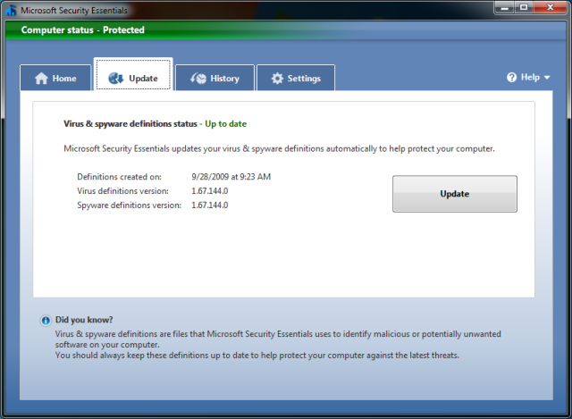 Microsoft Security Essentials 4 9 Antivirus Software