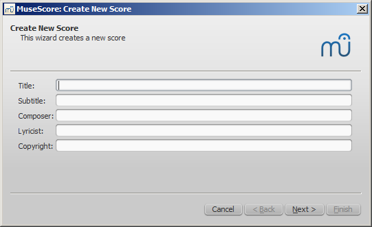 Create new score
