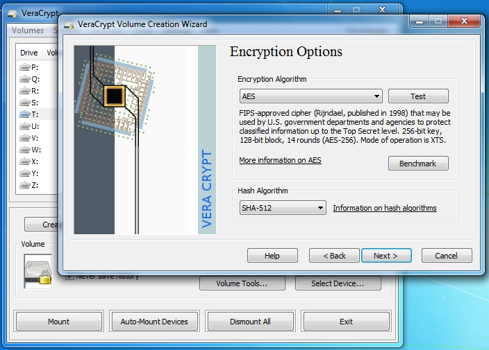 Creating an encrypted volume