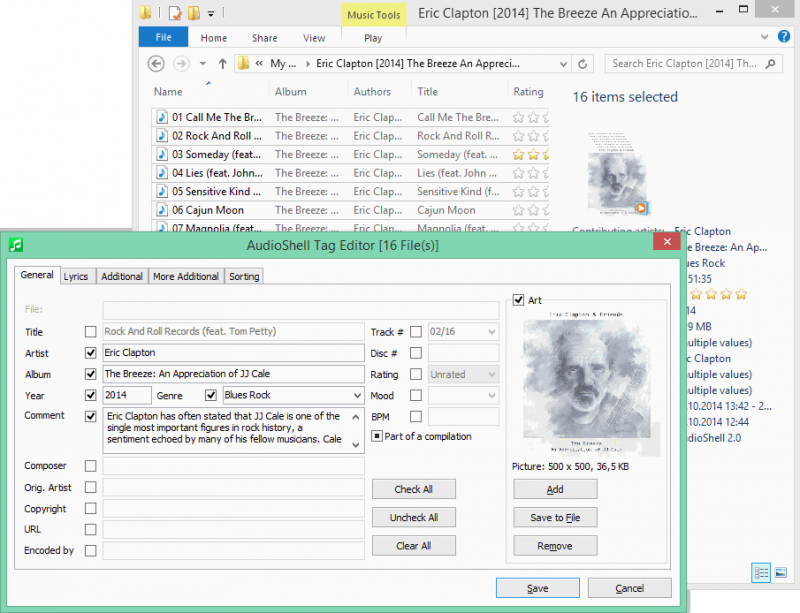 Multi files tag editor
