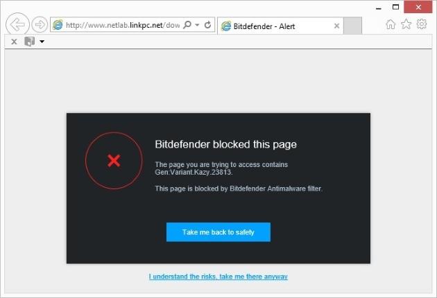 Malicious Page Blocked