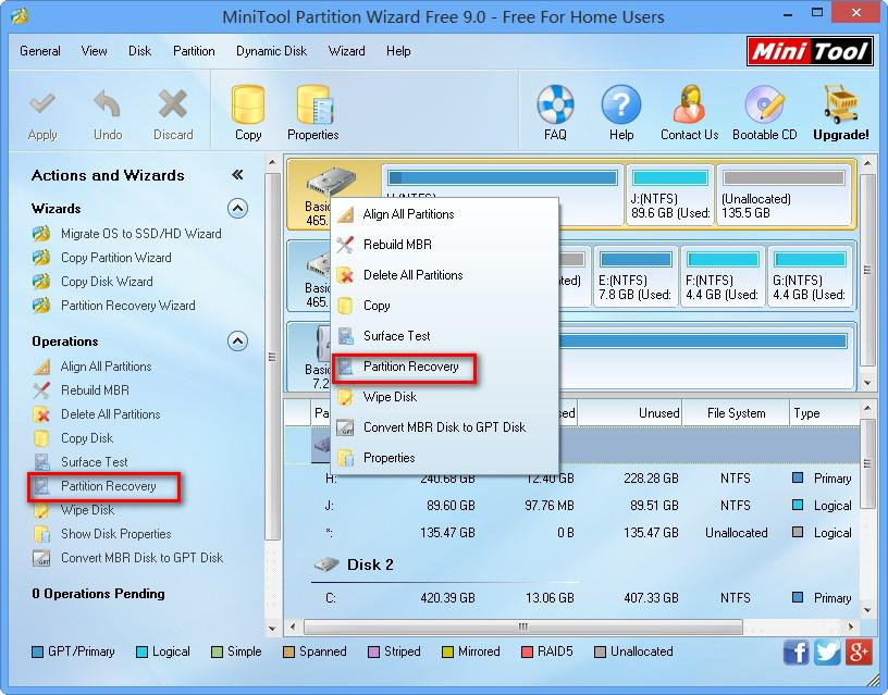 Minitool partition wizard free edition 9 1 system utilities - How to recover partition table ...