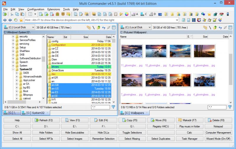 Standard Layout - Windows Explorer Style