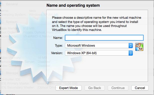Creating your virtual machine
