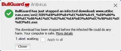 Malicious Download Blocked
