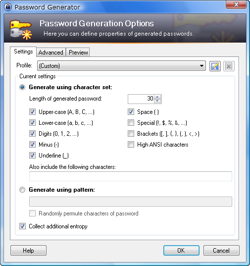Powerful Built-In Password Generator