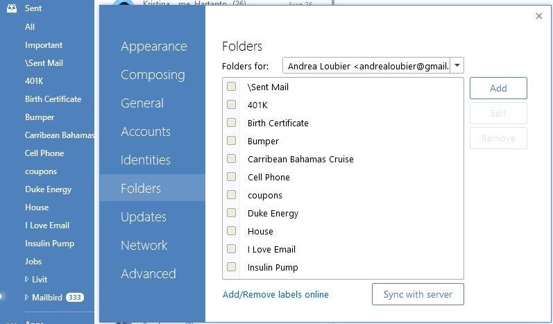 Folder support