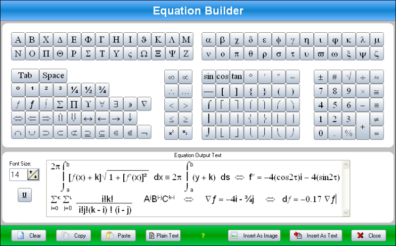Equation Builder