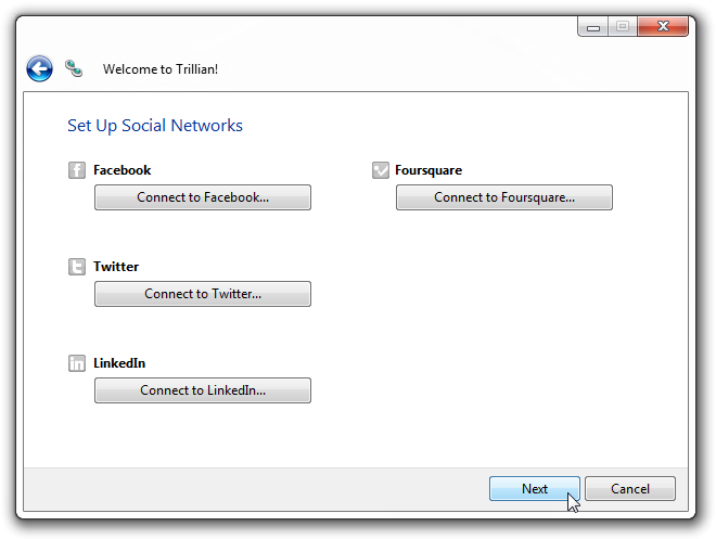 Set Up Social Networks