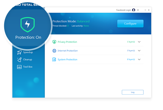 Protection offers 4 different user selectable modes - Performance/Balanced/Security and Custom. Each mode offers a different level of protection from malware, phishing attacks and backdoors.