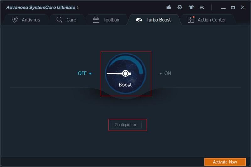 Turbo Boost Screen
