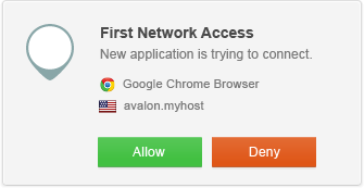 Refuse new network connections until you're asked to approve or deny the connection by GlassWire.