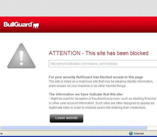 Phishing Site Blocked