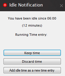 Idle detection notifies you of the time that you've been inactive/away from the keyboard.