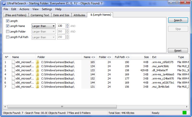 WatFile.com Download Free UltraFileSearch Lite 4 6 | File Management | FileEagle