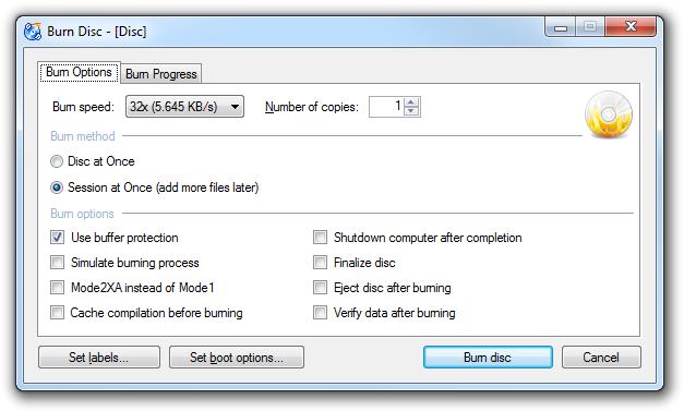 Burn Options