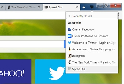 Recently closed tabs, tab cycling and other small improvements save you time online.