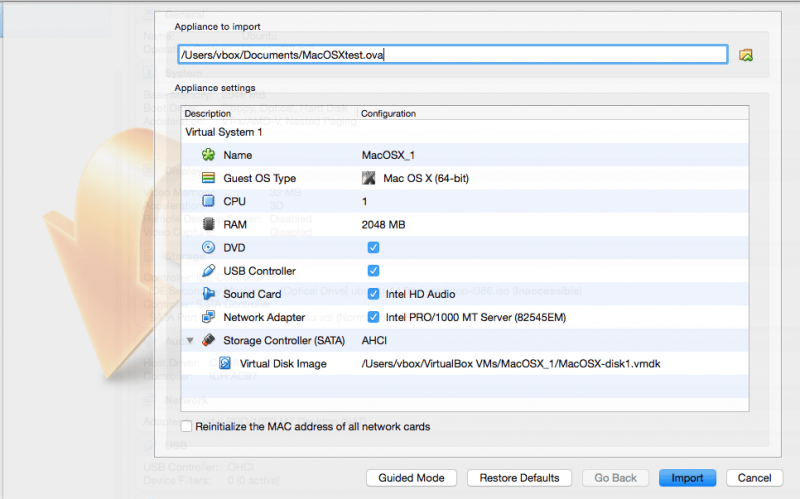 Importing and exporting virtual machines