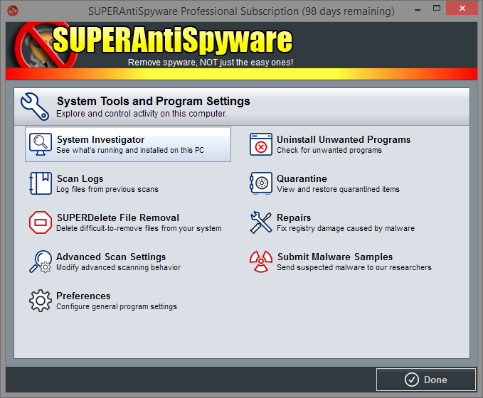 System Tools & Program Settings