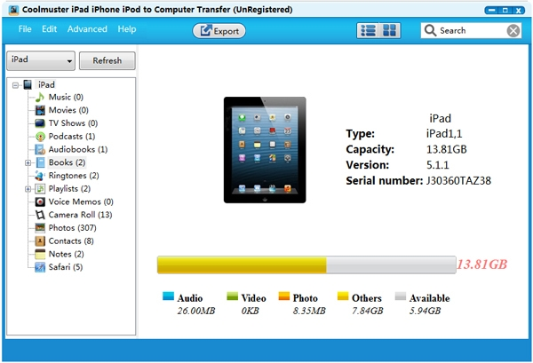 Launch Program and Connect iPhone to Your PC