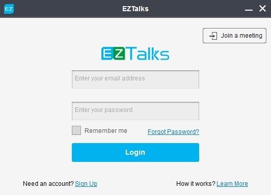 Sign Up for EZTalks
