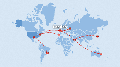 Interactive Route Maps for travel, airway and freight companies