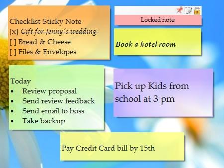 Sticky Notes on Windows Desktop