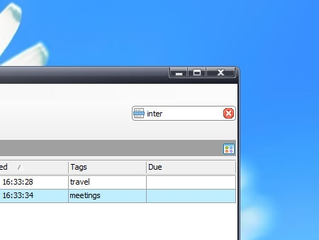 Search sticky notes, Find text within a sticky note