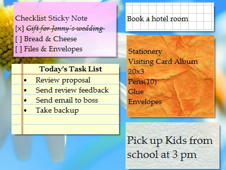 Sticky Notes with Skins