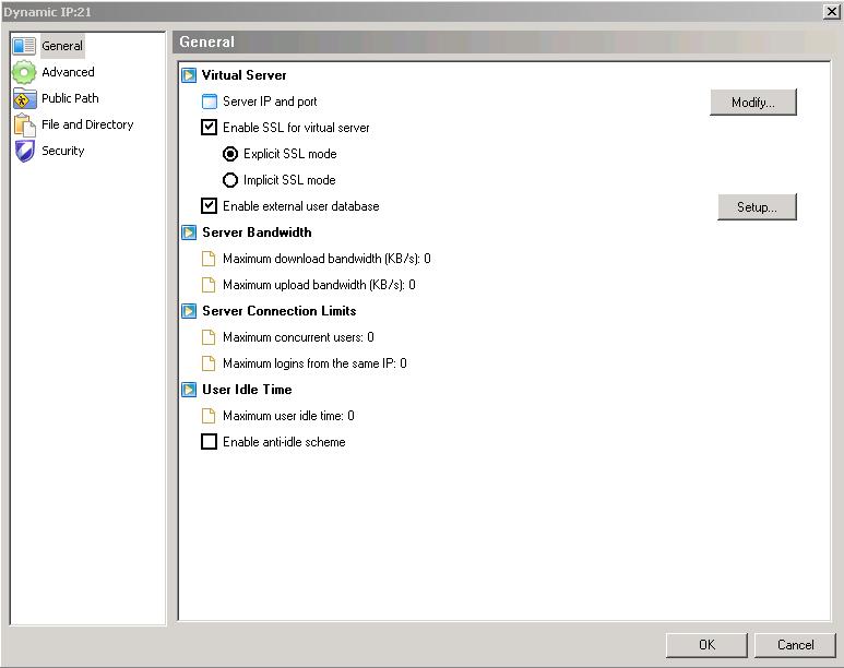 Virtual Server Configuration