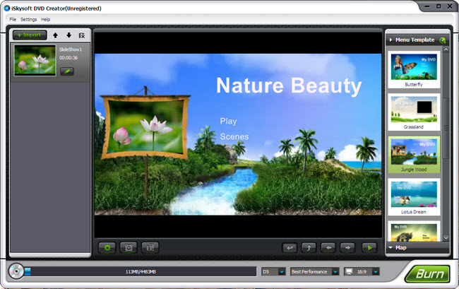 Iskysoft dvd creator 5 0 dvd software for Dvd flick menu templates download