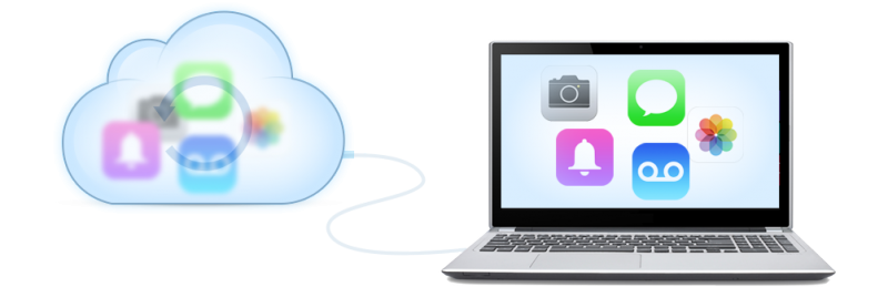 Download, browse and extract your content from iCloud