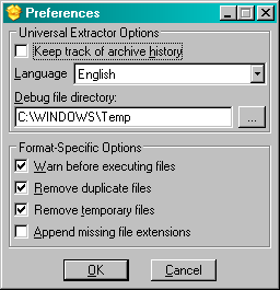 Universal Extractor preferences